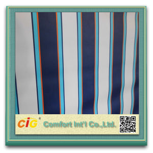 PVC Coated Polyester Awning Fabric Waterproof Strip Fabric pictures & photos