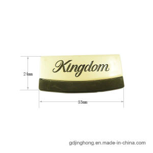 High Quality Logo Printing Zinc Alloy Label for Bags Purse pictures & photos