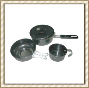 Non Stick Camping Cookware Set Cl2c-Dt1303-3 pictures & photos