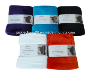 Solid Color Microfleece Flannel Blankets pictures & photos