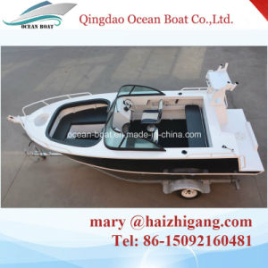 5.0m 17FT Deep-V Bowrider Aluminmum Fisherman Leisure Open Boat with Ce pictures & photos