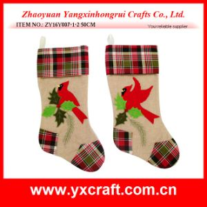 Christmas Decoration (ZY16Y007-1-2 50CM) Happy Christmas Bird Stocking pictures & photos
