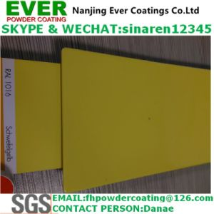 2017 Electrostatic Spray Sulfur Yellow Color Ral1016 Powder Coating pictures & photos