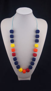 New Design Colorful Silicone Bead Necklace 02#