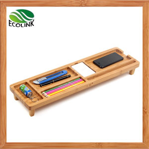 Eco-Friendly Bamboo Desktop Organizer Over The Keyboard pictures & photos