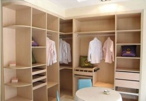 E1 Plywood Bedroom Wardrobe (ZHUV factory) pictures & photos