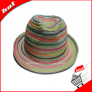 Paper Straw Fedora Hat Women Panama Hat pictures & photos