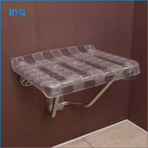 Le Mei Shi Entrance Corridor Wall Chair ABS Translucent Superior Workmanship Wall Mounted Folding Shower Seat pictures & photos