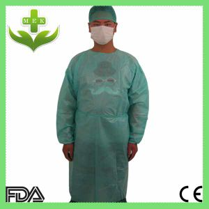 Hubei MEK Medical PP Nonwoven Isolation Gown with Ce ISO pictures & photos