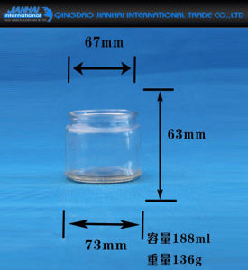 Bowl Shape Clear Glass Jar Candle Holder for Decorations pictures & photos
