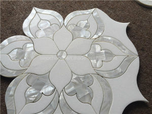Natural Stone Mixed Shell Waterjet Mosaic Tile for Backsplash pictures & photos