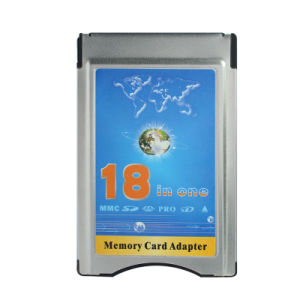 18 in One MMC SD SDHC Ms PRO Xd Card Reader Into PCMCIA Memory Card Adapter pictures & photos