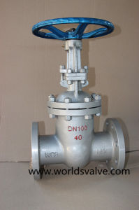 ANSI Worm Gear Wcb Gate Sluice Valve with Flange End (Z45X-10/16) pictures & photos