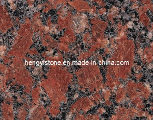 Popular Santiago Red Granite Standard Granite Tile Size