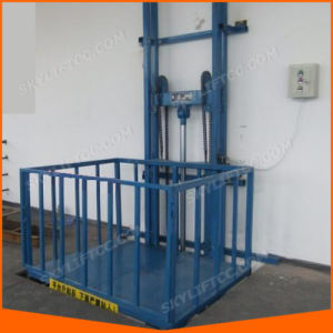Electric Multi-Point Control Wall Mounted Guide Rail Cargo Lift pictures & photos