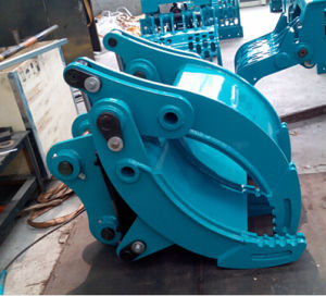 Excavator Grapple Hydraulic Grab for Kobelco Sk135 Excavator pictures & photos
