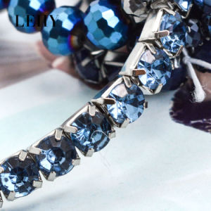 Bohemia Navy Blue Rhinestone Stone Strand Elastic Bracelets 6PCS/Set pictures & photos