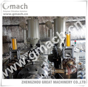 Plastic Corrugated Pipe Extrusion Line Used Hydraulic Screen Changer pictures & photos
