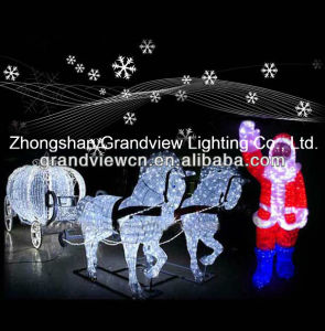 LED Christmas Lights Including Santa and Snow and Horse Carriages pictures & photos