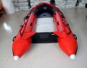 Aluminum Floor 0.9mmpvc, CE Inflatable Boat (FWS-A430) pictures & photos
