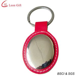 2016 Hot Sale Blank Red Real Leather Keychain pictures & photos