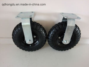 Trash Bin Casters Series - Black Iron Core Rubber Wheel pictures & photos