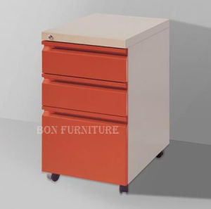 Steel Filing Cabinets for Sell/Assembled Drawer Filing Cabinet on Wheels pictures & photos