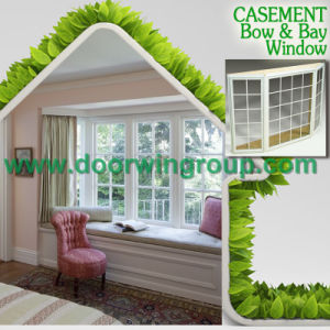 White Color Full Divided Specialty Window, European Style Solid Oak/Teak/Pine Aluminum Wood Window pictures & photos