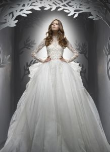 Elegant Hot Style Organza Cap Sleeve Sweep Train Lace Appliques Beaded Plus Size Wedding Dress Yj0038