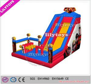 Lilytoys New Superman Design Inflatable Slide for Party (J-slide-09)