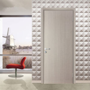 Inteiror Room White Modern Flush Wood Door with Frame and Hardware pictures & photos