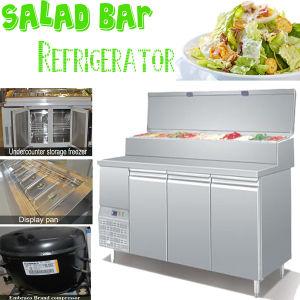 Salad Bar Refrigerator with 10 Pans Salad pictures & photos