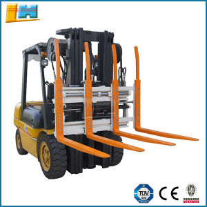 Hydraulic Forklift Loader Attachments Bale Fork, Single Double Pallet Handlers