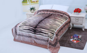 Hot Sale 100% Polyester Raschel Blanket Sr-B170305-13 Soft Printed Mink Blanket pictures & photos