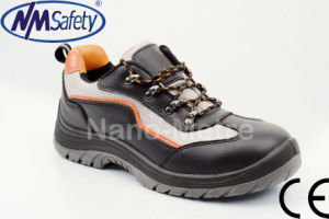 Nmsafety Hot Sale Smooth Leather Work Safety Shoes pictures & photos
