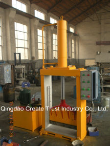 Vertical Single Knife Hydraulic Press Rubber Bale Cutter pictures & photos
