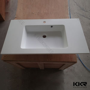 China bathroom marble artificial stone solid surface vanity tops china vanity tops solid - Custom solid surface bathroom vanity tops ...