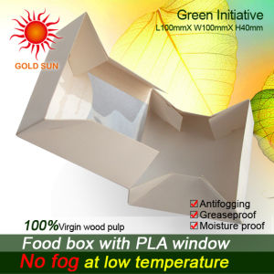 Fast Food Packaging Box with Anti-Fog Windows (W100) pictures & photos
