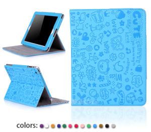 High Quality Colorful Cute Magic Girl Leather Case for iPad Air 2
