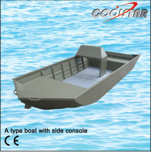 Aluminum Fishing Boat Painted in Dark Green with Side Console pictures & photos