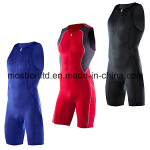 Professional High Quality Men Sleeveless Lycra Triathlon Suit/Wet Suit pictures & photos