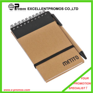Cheap Custom Promotional Recycled Notebook with Pen (EP-N1083) pictures & photos