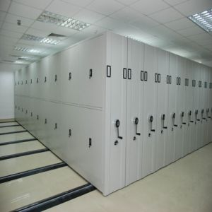 School Library Furniture Mobile Shelving, Mobile Fireproof Waterproof File Cabinet pictures & photos