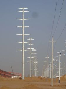 Galvanized Light Type Easy-Installation Steel Monopole Tower pictures & photos