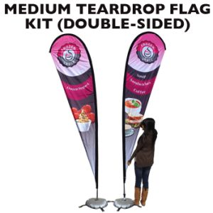 Single Double Sided Beach Flying Feather Teardrop Flag pictures & photos
