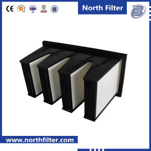En779 F5-F9 Low Resistance V Type Combined HEPA Filter Price pictures & photos