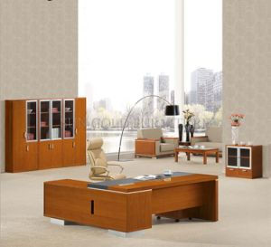 Big Size CEO High Quality Executive with Vice Cabinet Serie Office Desk (SZ-OD318) pictures & photos