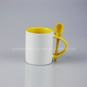 Fashion Customized Printed Promotional Ceramic Cup/Ceramic Coffee Mug with Spoon pictures & photos