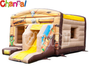 Western Theme Inflatable Bouncy House/Kids Inflatable Bouncer Slide B002 pictures & photos