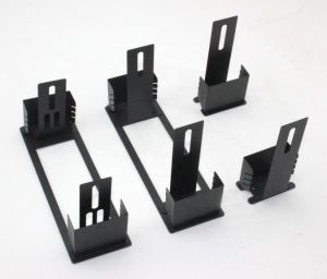 Powder Coating Black Wall Mounting Bracket-Manufacture Stamping Part-Precision Part pictures & photos